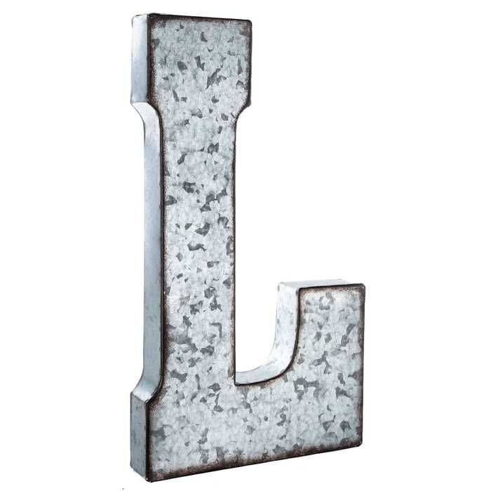Pinned it, Got it...I got this galvanized metal letter at Hobby Lobby for the twins big boy room.  It was perfect to help me tie in some metal accents & it looks great with the new room - TR