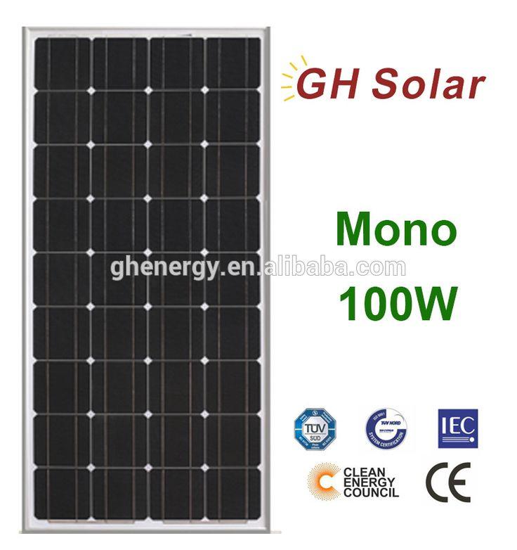 GH SOLAR-100w Solar Panel For 12v System,Monocrystalline,Photovoltaic Panel,Solar Module