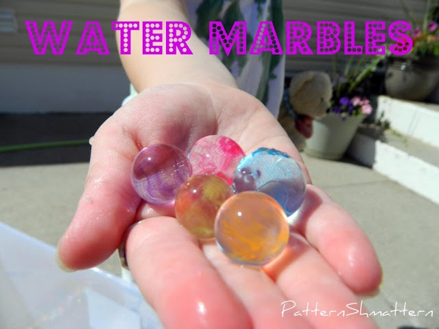 Water Marbles- summer fun for kids!