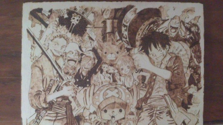 """""""One Piece""""  Dimensione A4  Compensato di pioppo"""