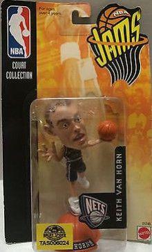 (TAS006024) - Mattel NBA Jams Mini Figure - Keith Van Horn
