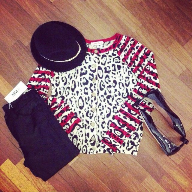 See by Chloe' cardigan Red Valentino shoes, MM6 pants, Eugenia Kim hat www.suite123.it