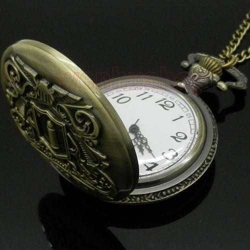 relógio de bolso (quartzo) firearms bullet - vintage