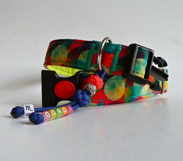 DIY sewed softshell dog collar