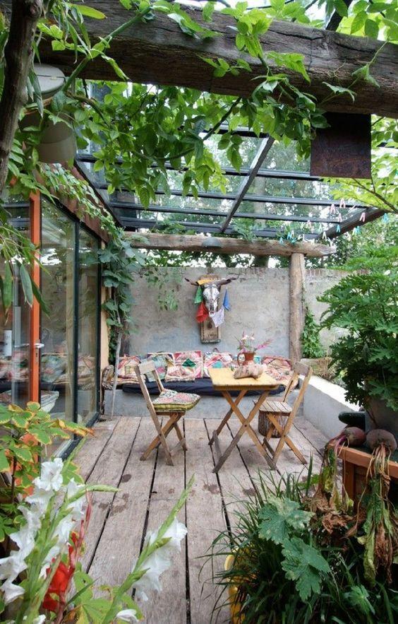 Les 25 meilleures id es de la cat gorie deco terrasse sur for Amenager sa terrasse appartement