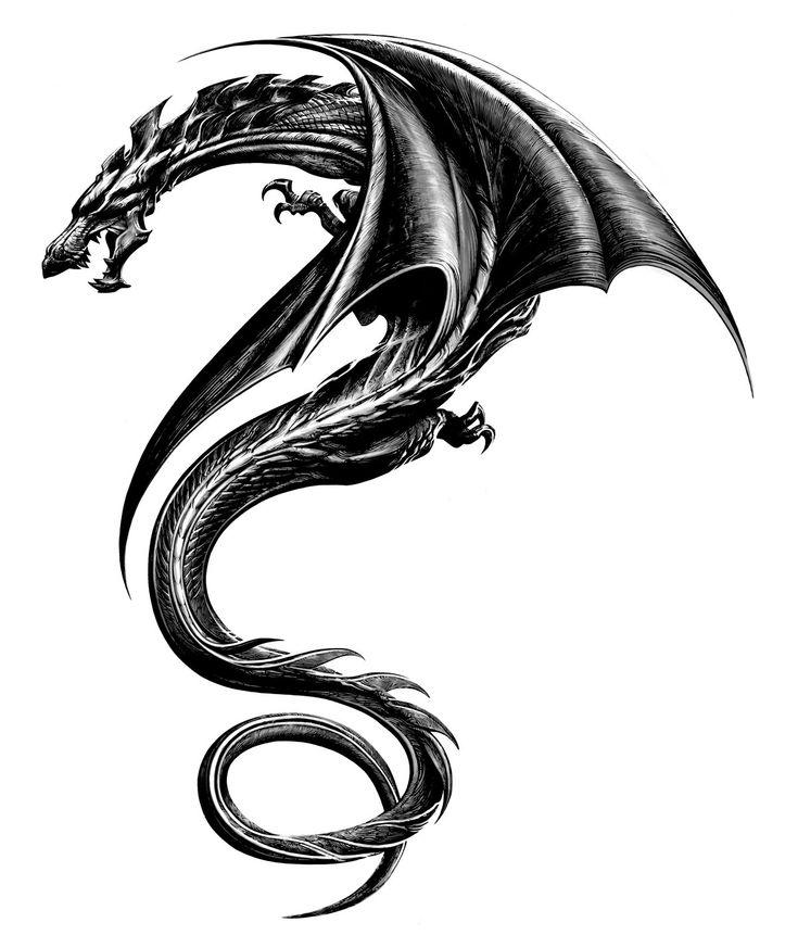 Картинка тату дракона