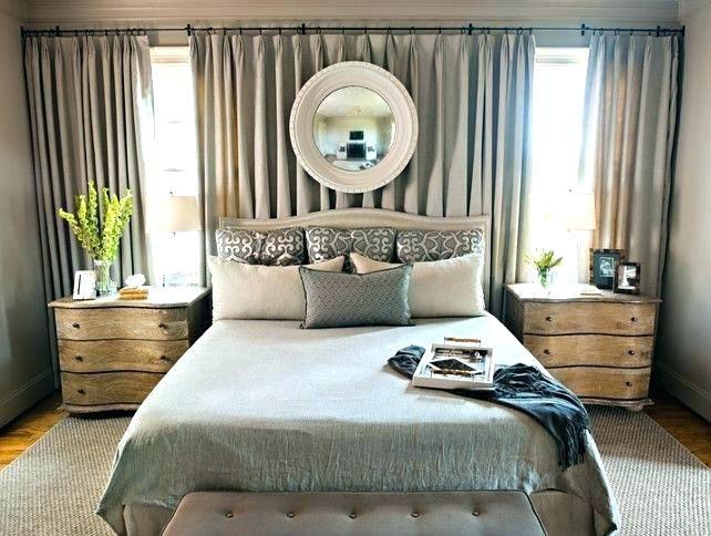 Curtains Behind Bed Drapes Over Headboard Best Window Behind Bed Curtains Behind Bed Curtain Wall Divide Bedroom Window Design Remodel Bedroom Bedroom Makeover