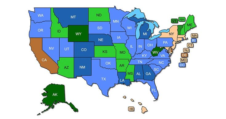 Concealed carry permit reciprocity maps v51 updated jan