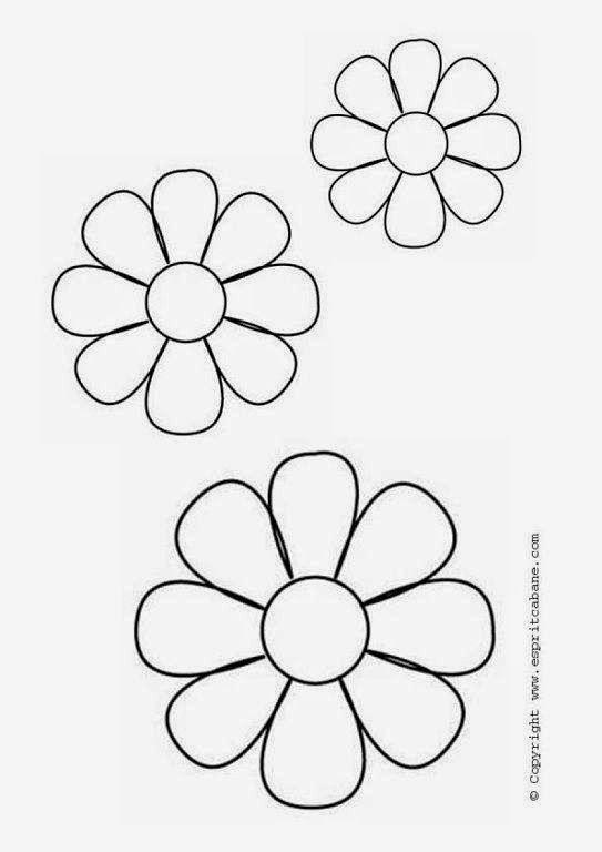 Las 25 mejores ideas sobre plantilla de flores en - Apliques pared aki ...