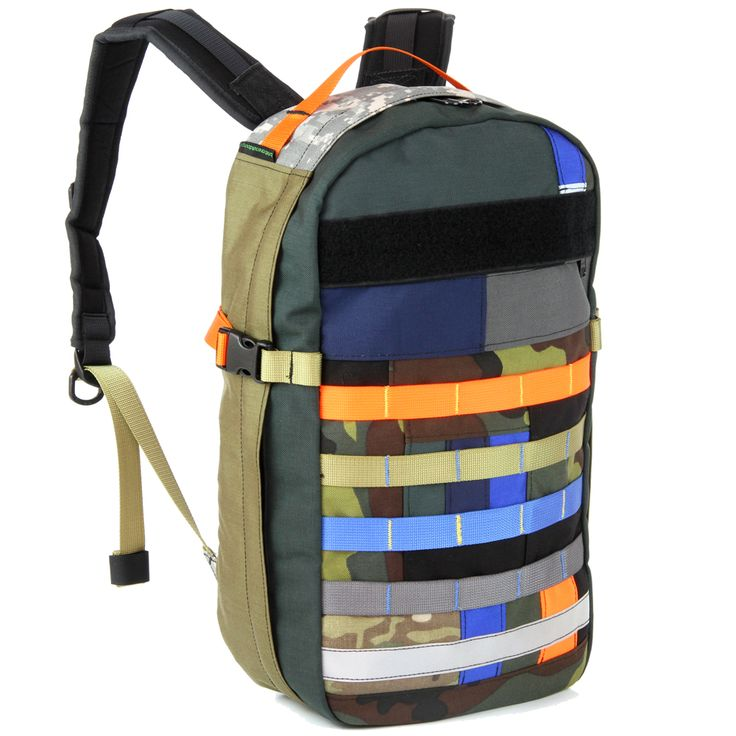 WTF Patchwork BullPup Backpack. Made using 100% scrap (reclaimed material destined for the bin). The front panel was patch-worked together using smaller off-cuts.