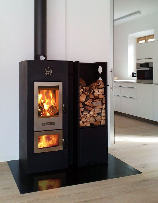 Here we have the award winning Walltherm Zebru, the most efficient wood burning stove in the world.