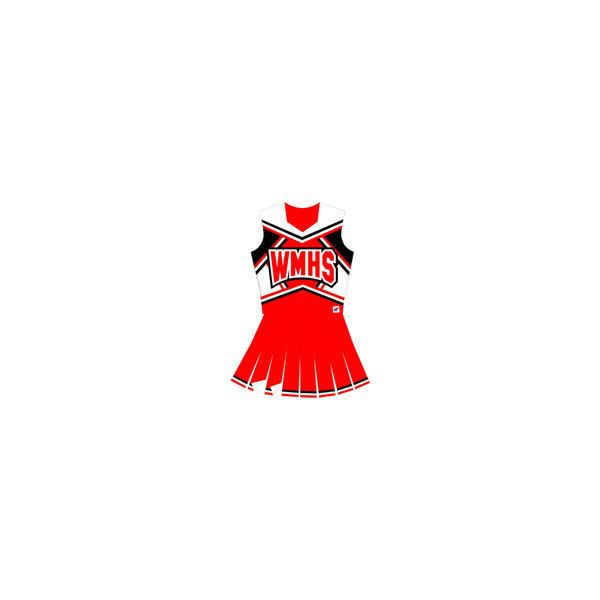 Halloween Costumes & Famous Cheerleader Uniforms ($146) ❤ liked on Polyvore featuring costumes, cheerleader, glee, dresses, cheer, red costumes, cheerleader costume and cheerleader halloween costume