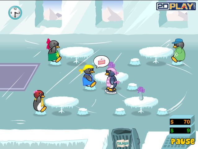 Penguin Diner 2 - Fire Storm Game - Play Game Online Free