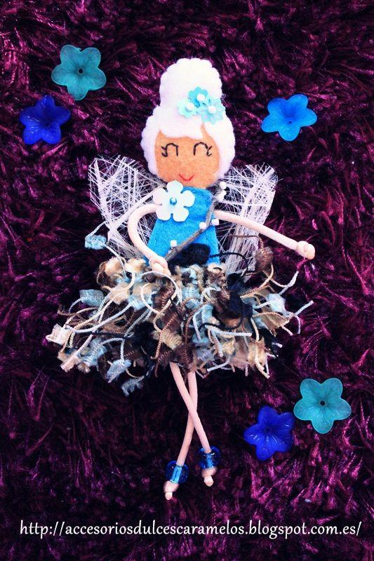 Doll Felt winter Fairy / Hada de invierno http://accesoriosdulcescaramelos.blogspot.com.es/2014/03/hadas-natura-coleccion-2014.html