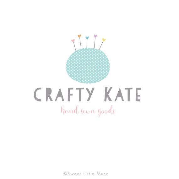 Craft logo sewing logo pincushion logo by SweetLittleMuse