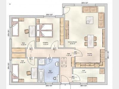 Delightful Hausansicht Elbe Haus® Bungalow 3 100 R