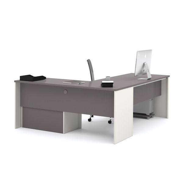 Bestar Connexion L-desk with Oversized Pedestal