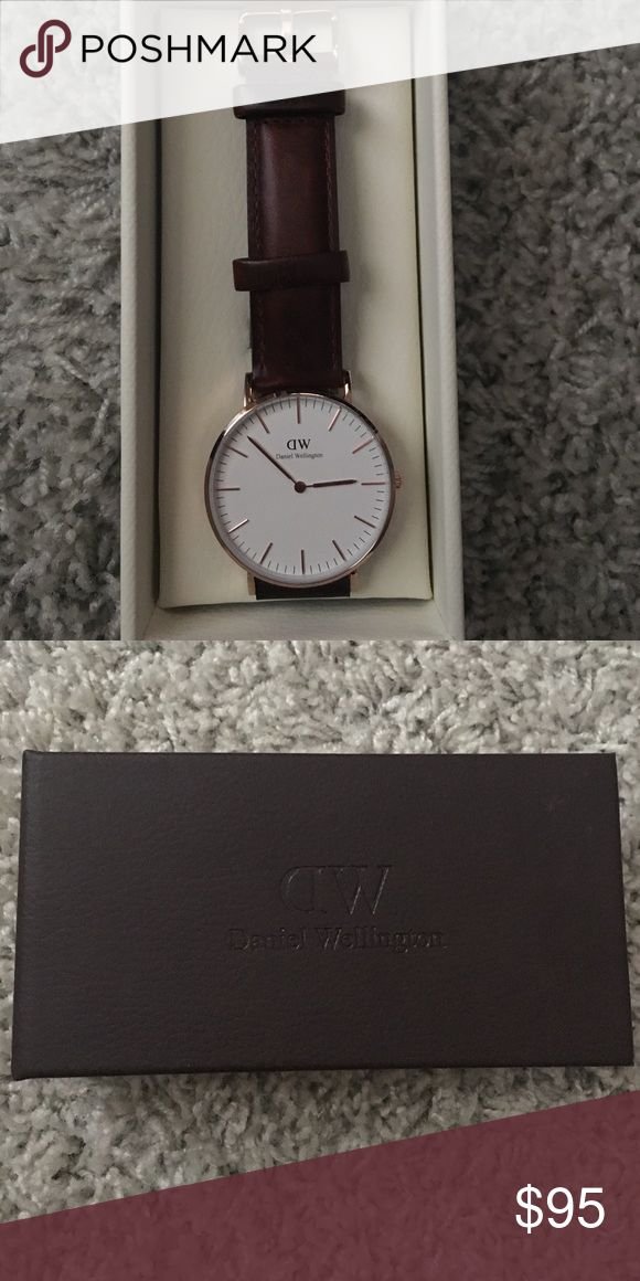 Authentic Daniel Wellington Watch St. Mawes in rose gold. 36 mm. Only used once so watch band might look beaten down. Technically brand new. NO TRADES. Price can be negotiable. Daniel Wellington Accessories Watches