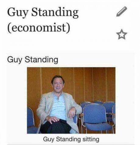 Guy standing sitting