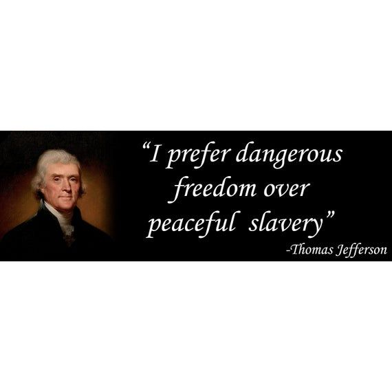 Thomas Jefferson Freedom Quote Libertarian 1st And 2nd Etsy In 2021 Freedom Quotes Thomas Jefferson Car Bumper Decals