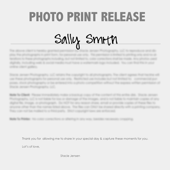 8 best forms images on pinterest photography business for Free photography print release form template