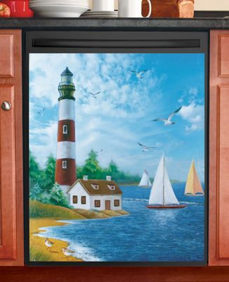 Nautical Lighthouse Dishwasher Magnet Cover In 2020