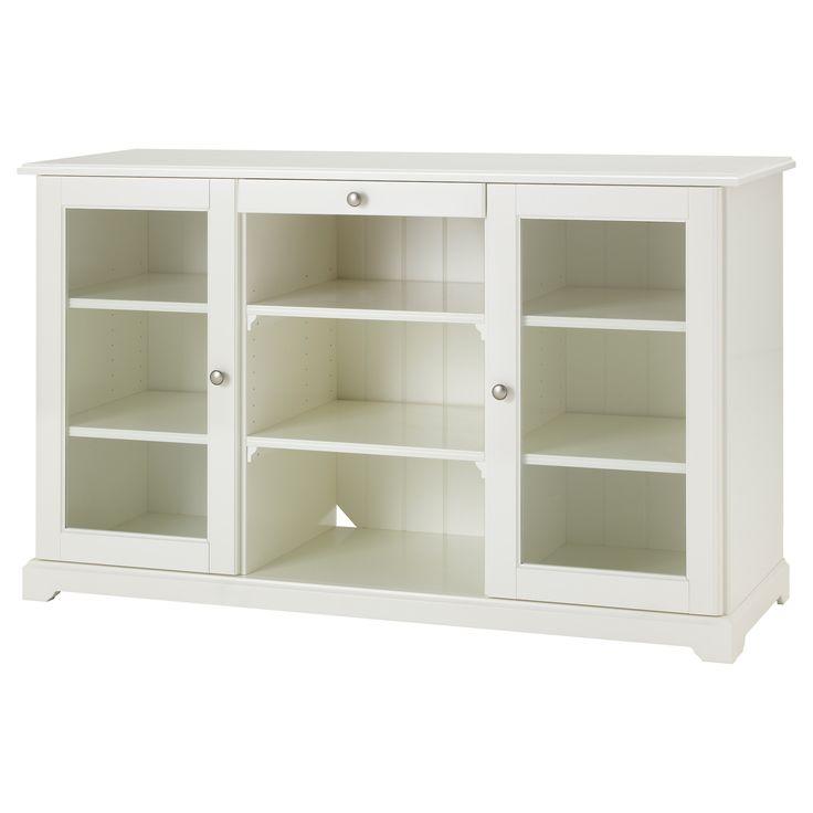 LIATORP Sideboard - IKEA  As kitchen island?  add beadboard/trim over back panel, add butcher block cutting board on top?