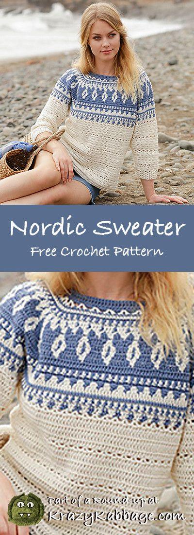 Free Crochet Sweater Patterns – Krazy Kabbage #crochet #freecrochetpattern #sw... 9