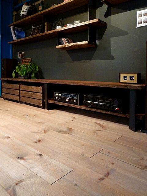 アイアン,鉄,フレーム,AVボード,テレビ台,テレビボード,リビング収納,幅2.5m,大きな,長い,