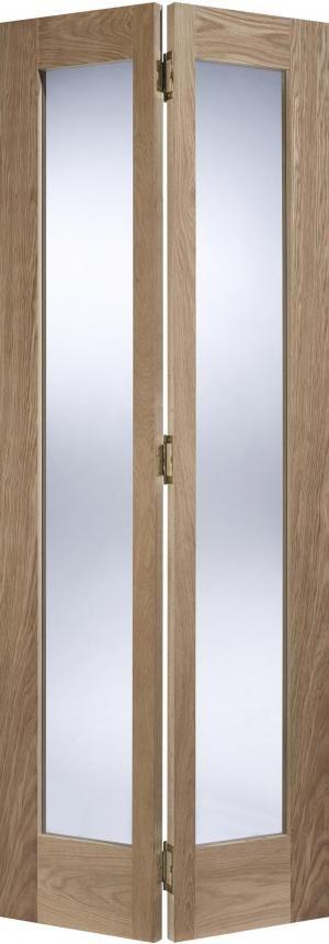 LPD Contemporary Oak Pattern 10 Clear Glass Bifold Door                                                                                                                                                                                 More