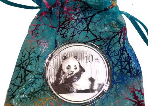 2015-Chinese-Panda-1-oz-999-Silver-Coin-plastic-capsule-silk-bag-Mint-Cond