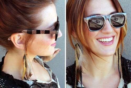 The Brit & Co. Blog Shows How to Make Fashionable Eyewear #fashion trendhunter.com