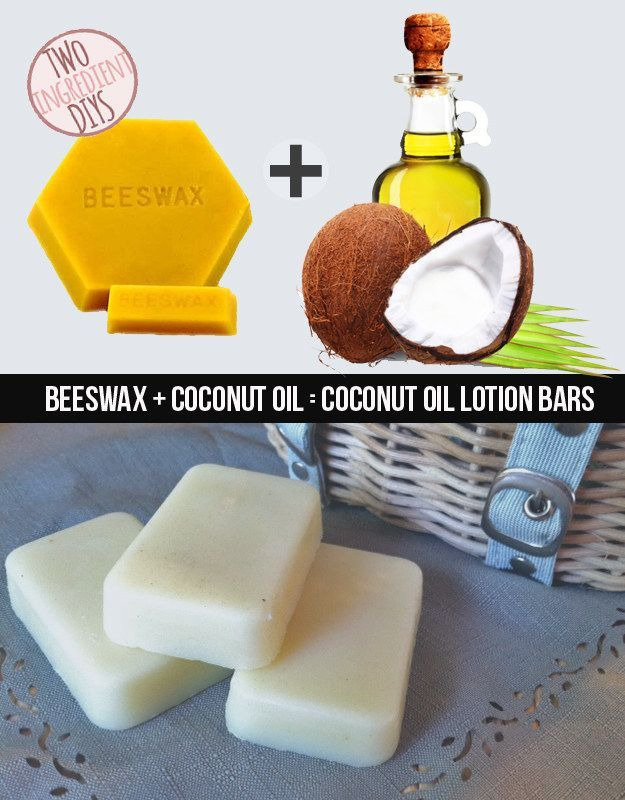 Make a mega-moisture rich soap from just beeswax and coconut oil.
