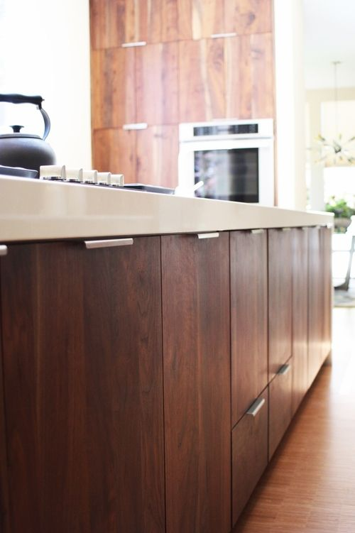 Pulls At Bottom Of Doors Instead For Reach From Wheelchair Walnut Kitchen Cabinets