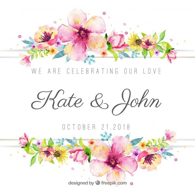 Download Lovely Floral Watercolor Wedding Background For Free In