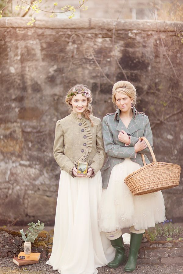 Whimsical and Romantic Scottish Castle Wedding Inspiration - jackets for the cooler times of the year