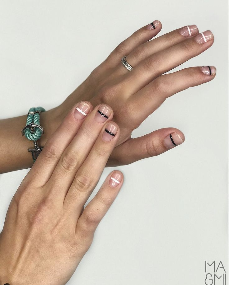 Not a french manicure. What would you call this nail design? Nail Art | Nail Des…