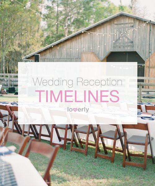 Wedding Tip: Sample wedding reception timelines