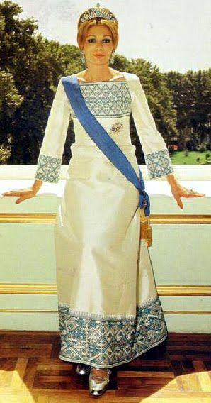 Farah Diba, Empress of Iran...the Shah always loved Soraya better, but she could not have children...  dynasties must carry on...!