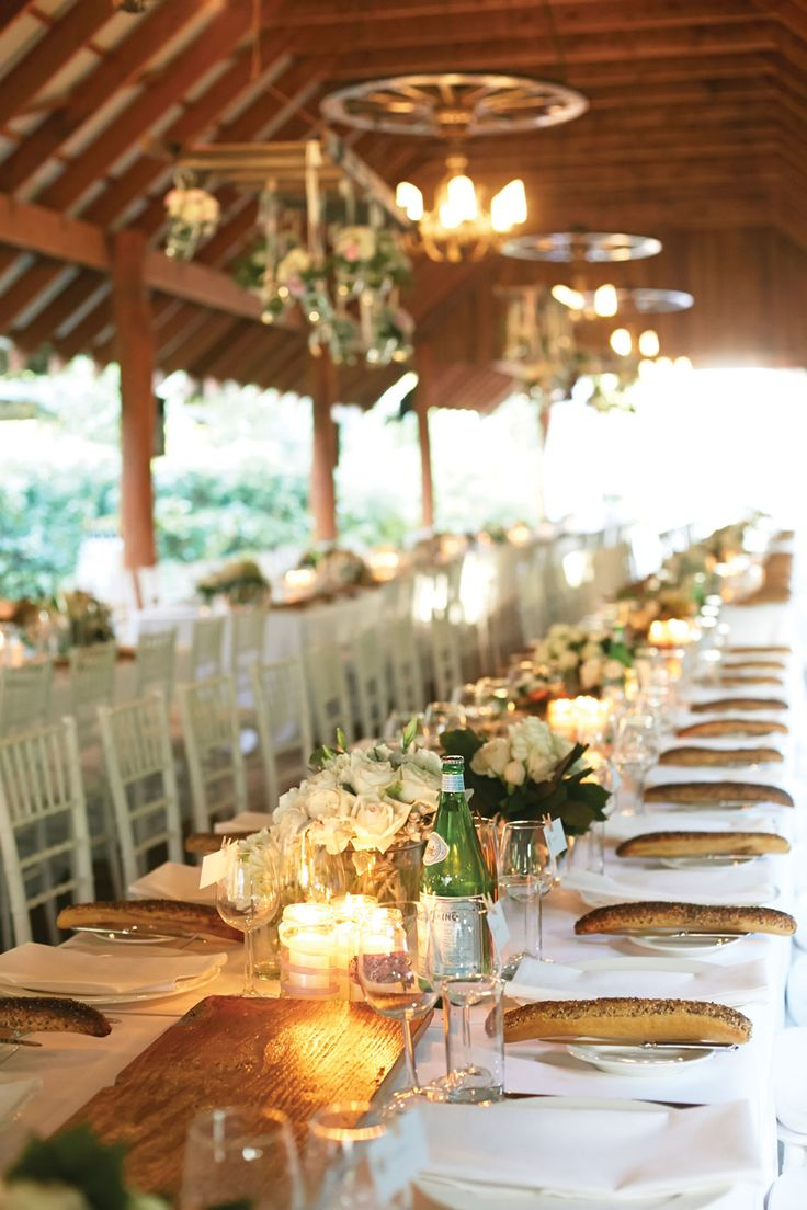 Reception styling was rustic and charming