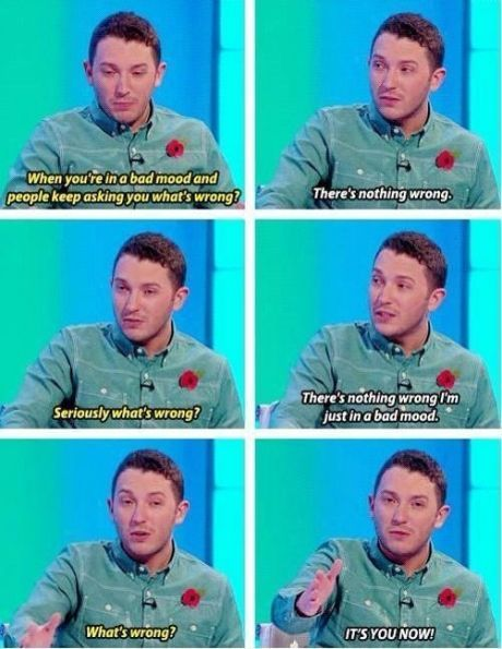 Jon Richardson On The *Sometimes* Cause Of Bad Moods