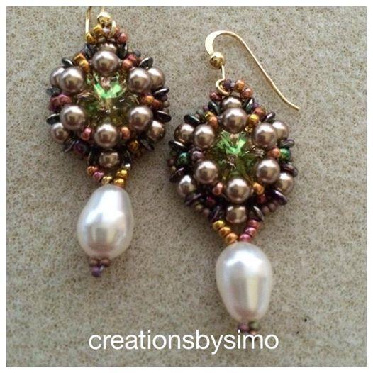 Tutorial Green Crown earrings di CreazionidiSimona su Etsy