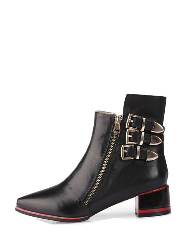 New In Point Toe Buckles Martin Boots