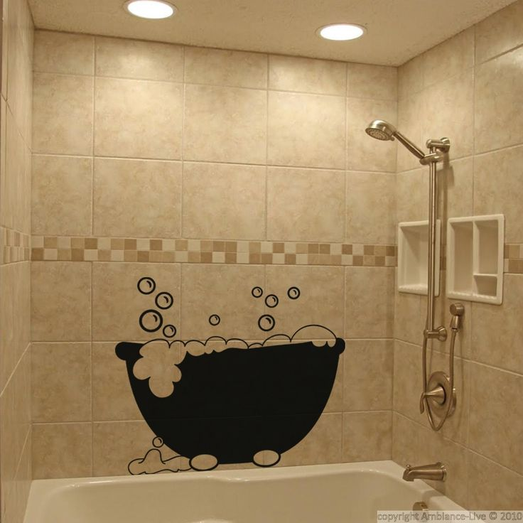 17 best ideas about stickers salle de bain on pinterest - Stickers pour baignoire ...
