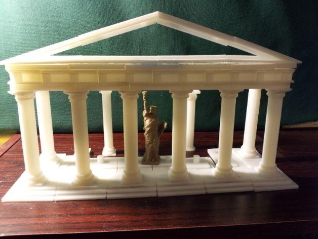 Parametric Doric Temple Building Set by elindow - Thingiverse