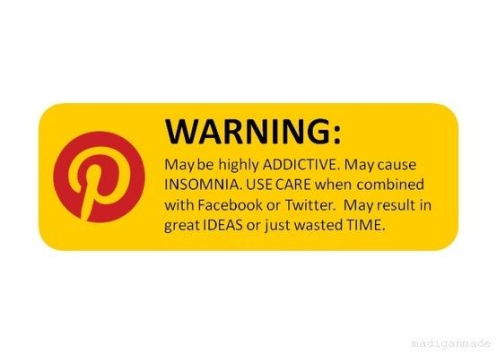 WARNING #Pinterest pinterest