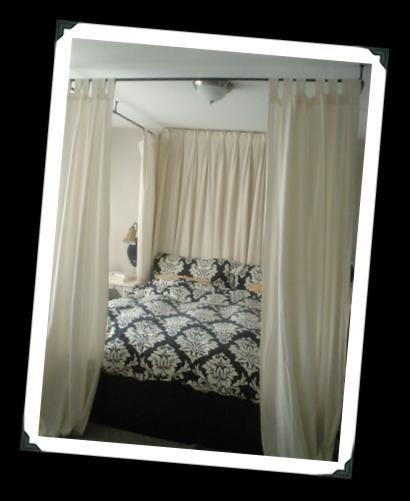 DIY Bedroom Furniture :DIY Canopy Bed : DIY Master Bedroom: Easy Canopy Bed