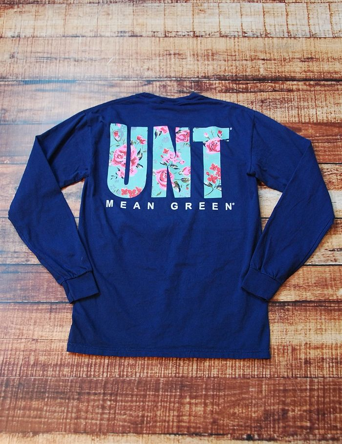 How stinking cute is this new UNT Mean Green rose Comfort Color t-shirt? Keep showing your school spirit while showing off your style. Go University of North Texas!