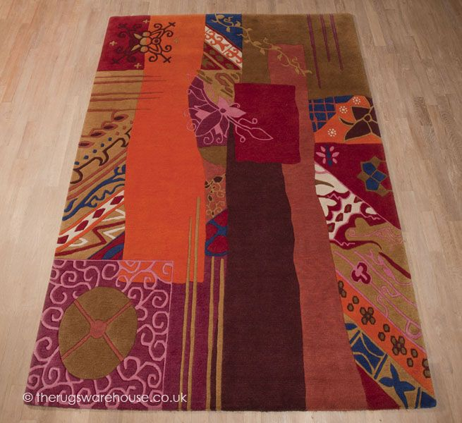 IN CLEARANCE: Vegas Rug, a vibrant multi-coloured abstract design luxury rug hand-knotted in Nepal from 100% New Zealand wool (2 sizes, now from £719.20, discontinued design, in clearance until stocks last) http://www.therugswarehouse.co.uk/clearance/vegas-rug.html