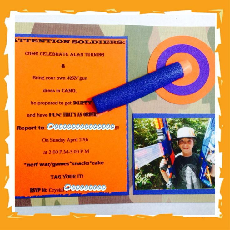 50 best nerf party images on pinterest | nerf party, nerf war and, Party invitations